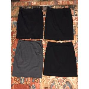 4 Wool suiting skirts 2 JCrew 0P, DKNY 0, Theory 0